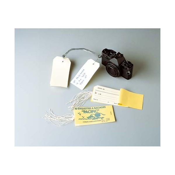 AVERY Carnet de 10 étiquettes bagage 120 x 66 mm + attache ficelle