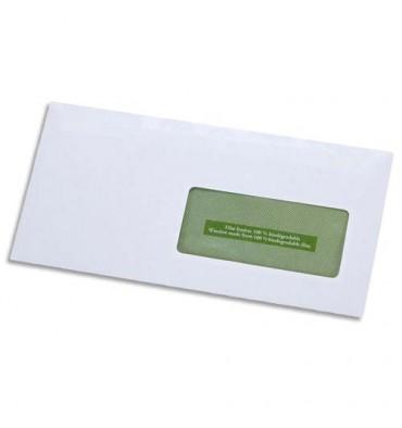 GPV Boîte de 500 enveloppes recyclées extra blanches Erapure, format DL 110 x 220 mm fenêtre 45 x 100 mm 80g