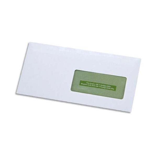 GPV Boîte de 500 enveloppes recyclées extra blanches Erapure, format DL 110 x 220 mm fen