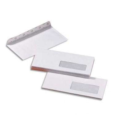 PERGAMY 500 enveloppes blanches auto-adhésives 80g, 110 x 220 mm a fenêtre