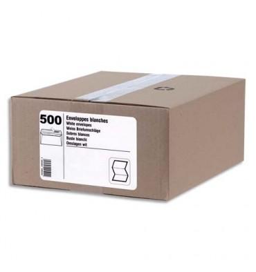 NEUTRE Boîte de 500 enveloppes blanches auto-adhésives 80g format C6 114 x 162 mm