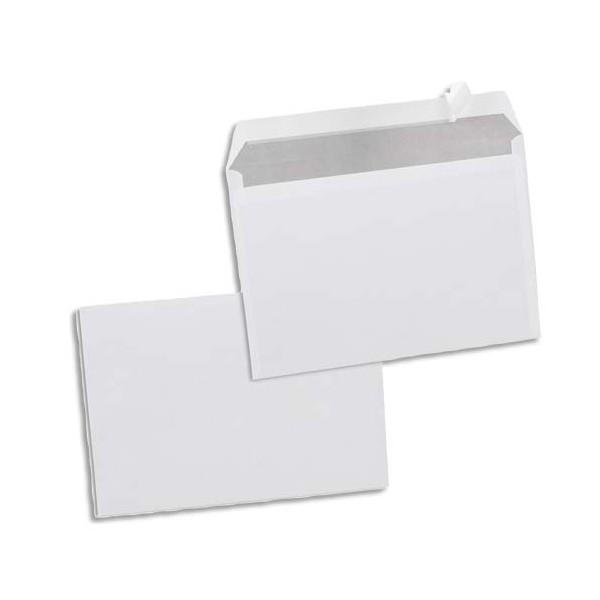NEUTRE Boîte de 500 enveloppes blanches auto-adhésives 80g format C5 162 x 229 mm