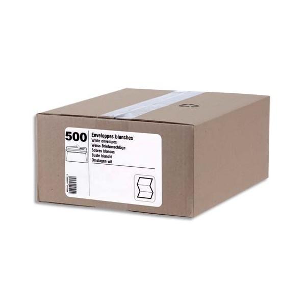 NEUTRE Boîte de 500 enveloppes blanches auto-adhésives 80g format C5 162 x 229 mm fenêt
