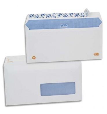 GPV Boîte de 500 enveloppes DL 110 x 220 mm blanches auto-adhésives 90g fenêtre 45 x 100 mm