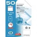 GPV Paquet de 50 enveloppes blanches auto-adhésives 80g format 114 x162 mm