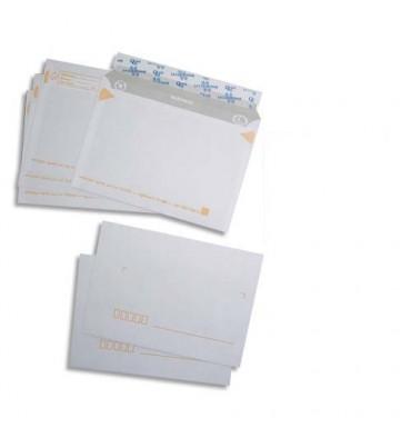 LA COURONNE Paquet de 50 enveloppes pré-casées blanches auto-adhésives 80g format 114 x 162 mm
