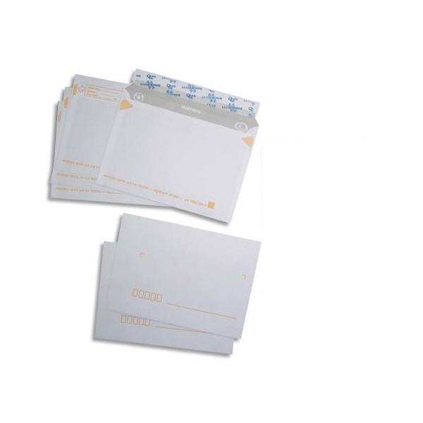 LA COURONNE Paquet de 50 enveloppes pré-casées blanches auto-adhésives 80g format 114 x