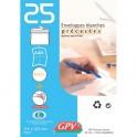 GPV Paquet de 25 enveloppes blanches auto-adhésives 90 grammes format 114 x 162 mm C6