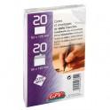 GPV Paquet de 20 cartes de visite 82 x 128 mm + 20 enveloppes auto-adhésives format 90 x 140 mm