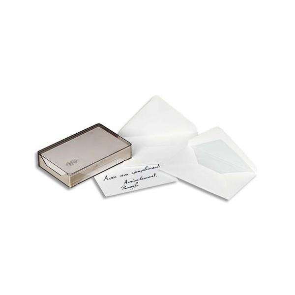 GPV Boîte cristal de 100 enveloppes gomme format 90 x 140 mm