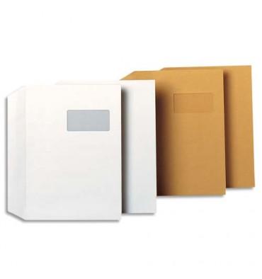 GPV Boîte de 250 enveloppes kraft brun auto-adhésives 90g format C4