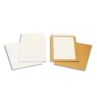 GPV Boîte de 100 pochettes kraft dos carton C4 120g auto-adhésives