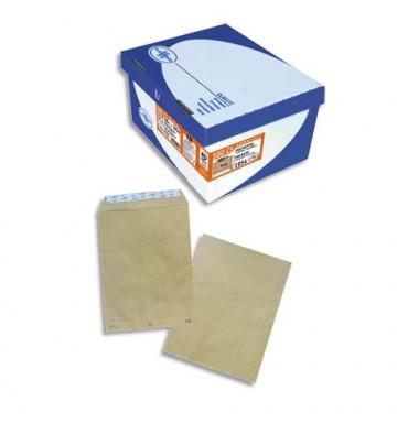 LA COURONNE Boîte de 500 pochettes kraft adour auto-adhésives 90 grammes format 162 x 229 mm C5