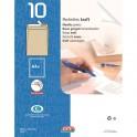 GPV Paquet de 10 pochettes kraft auto-adhésives 90g format 229 x 324 mm C4