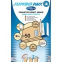 LA COURONNE Paquet de 50 pochettes kraft adour auto-adhésive 120g 3 soufflets 229 x 324 mm C4 fenetre 50 x 110 mm