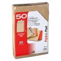 GPV Paquet de 50 pochettes kraft brun auto-adhésives, format 24 - 260 x 330 mm soufflet 30 mm 120g