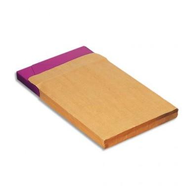 5 ETOILES Boîte de 200 pochettes kraft adour 3 soufflets auto-adhésives 120 grammes format C4