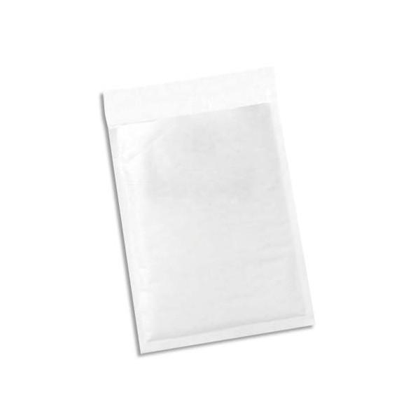 5 ETOILES Paquet de 100 pochettes en kraft blanches intérieur bulles d'air format 180 x 265 mm (photo)