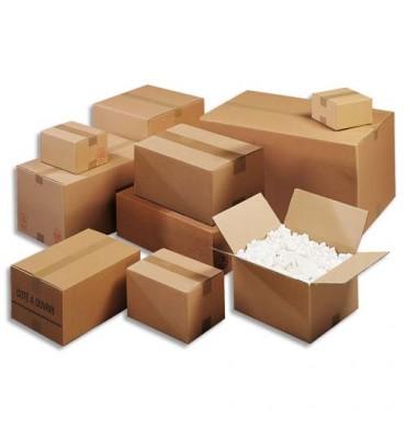 EMBALLAGE Paquet de 10 caisses américaine double cannelure en kraft brun - Dimensions : 50 x 40 x 40 cm