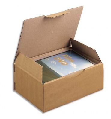 EMBALLAGE Boîte postale en carton simple cannelure havane - Dimensions : 20 x 14 x 7,5 cm