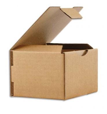 EMBALLAGE Boîte postale en carton simple cannelure havane - Dimensions : 15 x 10 x 7 cm