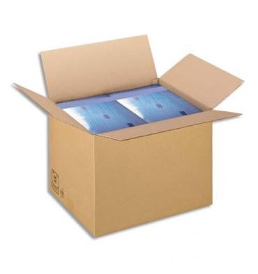 EMBALLAGE Paquet de 25 Caisses américaines simple cannelure en kraft brun - Dimensions : 43 x 30 x 30 cm