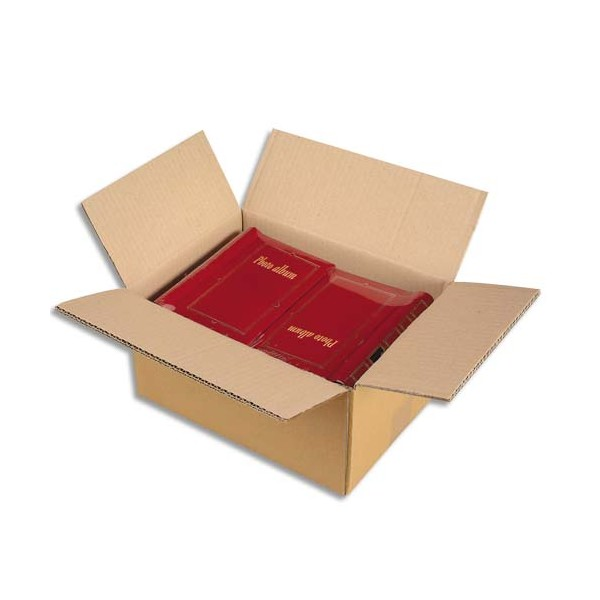 EMBALLAGE Paquet de 15 caisses américaines double cannelure en kraft écru - Dimensions : 40 x 30 x 27 cm (photo)
