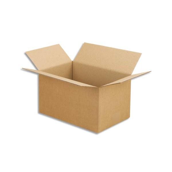 EMBALLAGE Paquet de 25 Caisses américaines en carton brun simple cannelure - format : 30 x 20 x 17 cm