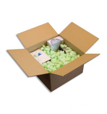 EMBALLAGE Sac de 500 litres de particules de calage Flo Pak forme 8 creux en polystyrène vert clair