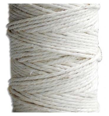EMBALLAGE Pelotte de ficelle sisal écrue 0,6/3 résistant à 110 kg - 200 m x 16 cm et diamètre 11,5 cm