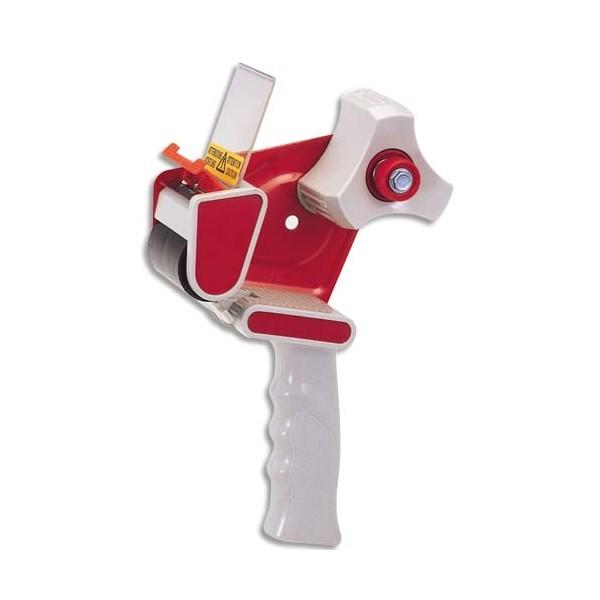 VISO Dévidoir pistolet avec frein corps en plastique, lame en métal pour rubans adhésifs de 66 et 100 m