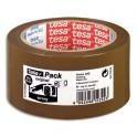 TESA Ruban adhésif d'emballage polypropylène qualité supérieure havane 52 microns, format 50 mm x 66 m
