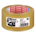 TESA Ruban adhésif d'emballage polypropylène qualité supérieure transparent 45 microns, format 50 mm x 66 m