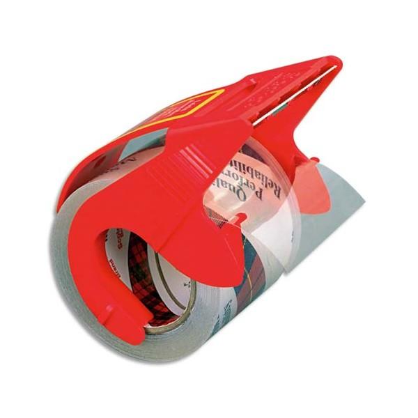 SCOTCH Ruban adhésif d'emballage polypropylène transparent sur dévidoir 75 microns, format 50 mm x 20 m (photo)