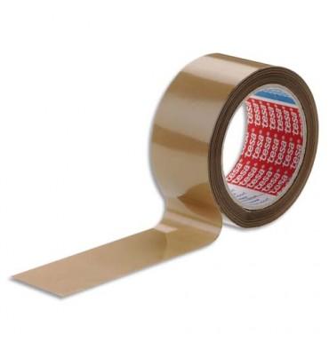 TESA Ruban d'emballage PVC colle caoutchouc 52 microns - Dimensions : 50 mm x 66 m havane