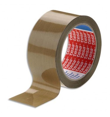 TESA Adhésif d'emballage polypropylène havane 48 microns, format 50 mm x 100 m