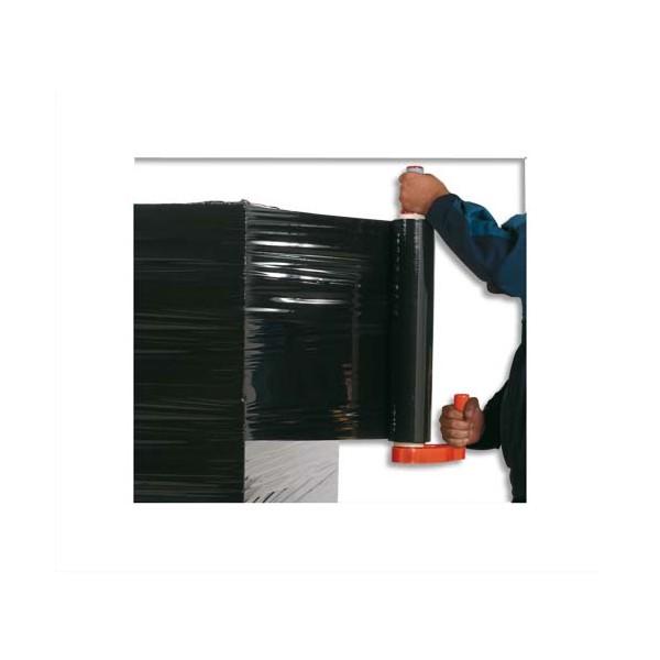 EMBALLAGE Film étirable noir opaque anti-UV de 17 microns, mandrin de 50 mm et format de 45 cm x 300 m