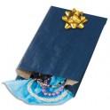 EMBALLAGE Paquet de 250 sachets kraft bleu 24 x 39 x 7,5 cm