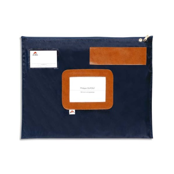 ALBA Pochette navette bleue en PVC dimensions : 42 x 32 cm