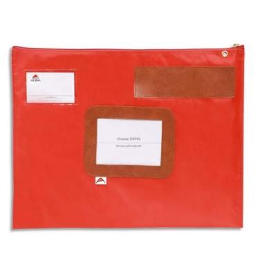 ALBA Pochette navette rouge en PVC dimensions : 42 x 32cm