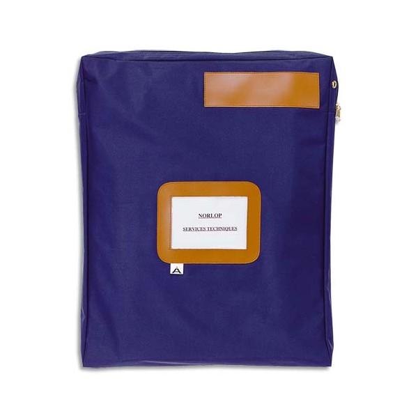 ALBA Pochette navette bleue en PVC à soufflet dimensions : 42 x 32 x 5 cm