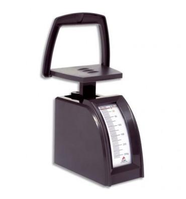 ALBA Pèse-lettres mécanique ABS portée de 0 à 250 g, Plateau 10 x 5 cm, totale : 5,5 x 19 x 12 cm noir