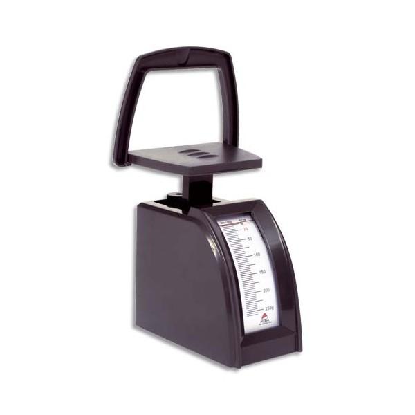 ALBA Pèse-lettres mécanique ABS portée de 0 à 250 g,  Plateau 10 x 5 cm, totale : 5,5 x 19 x 12 cm noir (photo)