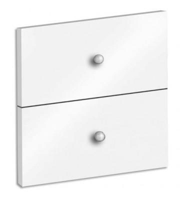 MT INTERNATIONAL Lot de 2 tiroirs + fonds pour multi-cases MT1 Elégance - L32,5 x H16,5 x P1,6 cm blanc