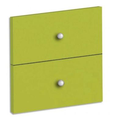 MT INTERNATIONAL Lot de 2 tiroirs + fonds pour multi-cases MT1 Elégance -L32,5 x H16,5 x P1,6 cm vert